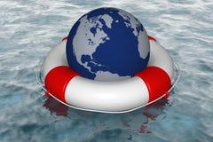 Hilfe in der globalen Krise Stockbild