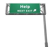 Hilfe - folgendes Ausgangs-Zeichen (getrennte Version) Lizenzfreies Stockbild