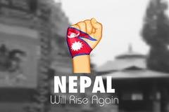 Hilfe Nepal-Erdbebens 2015 Stockbild