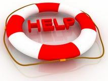Hilfe - Schwimmweste Lizenzfreie Stockfotos