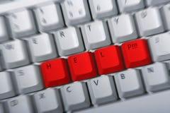 HILFE Tastatur Stockfotos