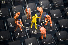 Hilfe, Technologiesupport Stockfotografie