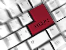 Hilfe - tragen Sie Zeichen ein Lizenzfreie Stockfotografie