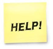 Hilfen-Anmerkung Stockbild