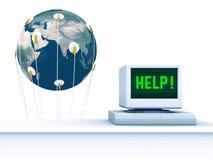Hilfen-Erde Stockfoto
