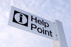 Hilfen-Punkt Stockfotos