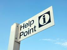 Hilfen-Punkt-Zeichen Lizenzfreie Stockbilder