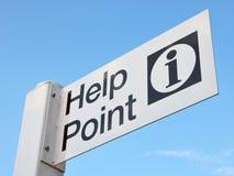 Hilfen-Punkt-Zeichen stockbild
