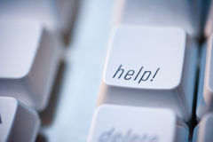 Hilfetaste auf Computer-Tastatur Stockfotografie