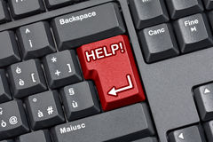 Hilfetaste-Computer-Tastatur Lizenzfreies Stockfoto