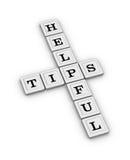 Hilfreiches TippKreuzworträtsel Lizenzfreies Stockfoto