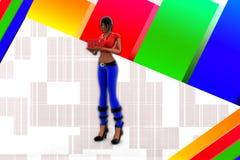 Hilfsillustration der Frauen-3d Stockfoto