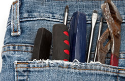 Hilfsmittel in der Tasche Stockbilder