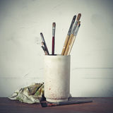 Hilfsmittel des Malers Stockfotos