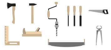 Hilfsmittel des Tischlers Stockbild
