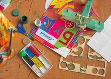 Hilfsmittel für Kunst der Kinder Stockbilder