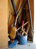 Hilfsmittel für Reinigung stockfoto