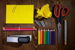 Hilfsmittel für Schule Lizenzfreie Stockfotos