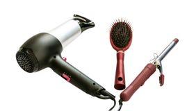 Hilfsmittel für Sorgfalt des Haares Stockbilder