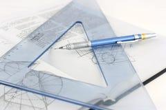 Hilfsmittel für Zeichnung Lizenzfreies Stockbild