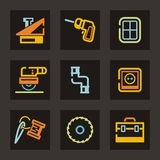 Hilfsmittel-Ikonen-Serie Stockfotografie
