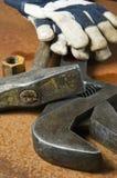 Hilfsmittel- und Handschuhidee Lizenzfreies Stockfoto