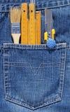 Hilfsmittel und Tasche Lizenzfreies Stockbild