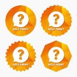 Hilfspunkt-Zeichenikone Fragensymbol Lizenzfreie Stockbilder