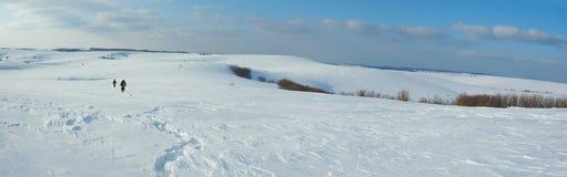 hilking χειμώνας της Ουκρανίας βουνών της Κριμαίας Στοκ Εικόνες