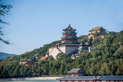 Hill μακροζωίας όχθεων της λίμνης Kunming θερινών παλατιών του Πεκίνου Στοκ εικόνα με δικαίωμα ελεύθερης χρήσης