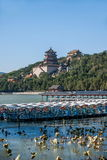 Hill μακροζωίας όχθεων της λίμνης Kunming θερινών παλατιών του Πεκίνου Στοκ φωτογραφία με δικαίωμα ελεύθερης χρήσης