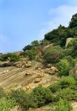 Hill με το τοπίο ουρανού του sittanavasal ναού σπηλιών σύνθετου στοκ φωτογραφία με δικαίωμα ελεύθερης χρήσης