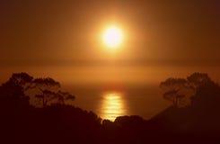 Hill σημάτων ηλιοβασιλέματος @ Στοκ φωτογραφία με δικαίωμα ελεύθερης χρήσης