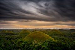 Hill σοκολάτας στο νησί Bohol, φιλιππινέζικο Στοκ Εικόνες