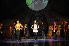 Hill της Tara-Ο ιρλανδικός εθνικός χορός βρυσών χορού Στοκ εικόνες με δικαίωμα ελεύθερης χρήσης