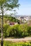 Hill του Castle και περιοχή Podil στην πόλη του Κίεβου Στοκ εικόνες με δικαίωμα ελεύθερης χρήσης