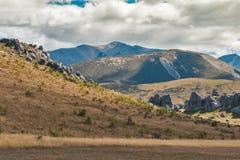 Hill του Castle στις νότιες Άλπεις, Arthur& x27 πέρασμα του s, νότιο νησί της Νέας Ζηλανδίας Στοκ εικόνες με δικαίωμα ελεύθερης χρήσης