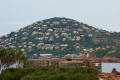 Hill υπόστεγων d'Azur Στοκ φωτογραφία με δικαίωμα ελεύθερης χρήσης