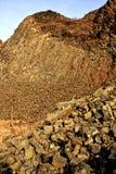 Hill. Rocks on top of it Radobýl Litoměřice Stock Photo