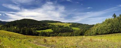 Hill. Green hill in mountain on Sumava Royalty Free Stock Photos