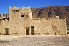 Hill africa in   old contruction         historical village bric Stock Photography