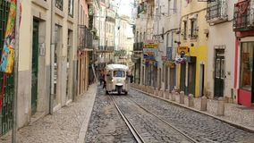 The hill of Alfama - the historic district of Lisbon stock footage