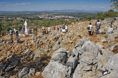 Hill of apparitions in Medjugorje Royalty Free Stock Image