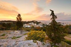 Hill Areopagus Στοκ φωτογραφία με δικαίωμα ελεύθερης χρήσης