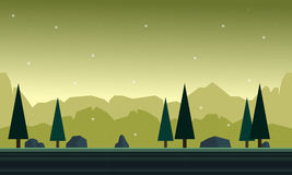 Hill with background for game background Royalty Free Stock Images