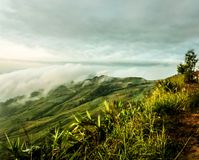 Hill with beautiful clouds Royalty Free Stock Photos