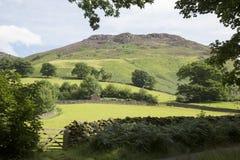 Hill behind Ashness Bridge; Keswick; Lake District Stock Photography
