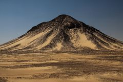 Hill in Black desert in Egypt Stock Photo