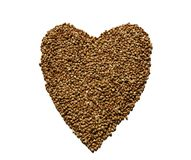 Hill buckwheat in the form of heart Royalty Free Stock Photos