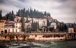 Hill with Castle Saint Pietro Royalty Free Stock Photography